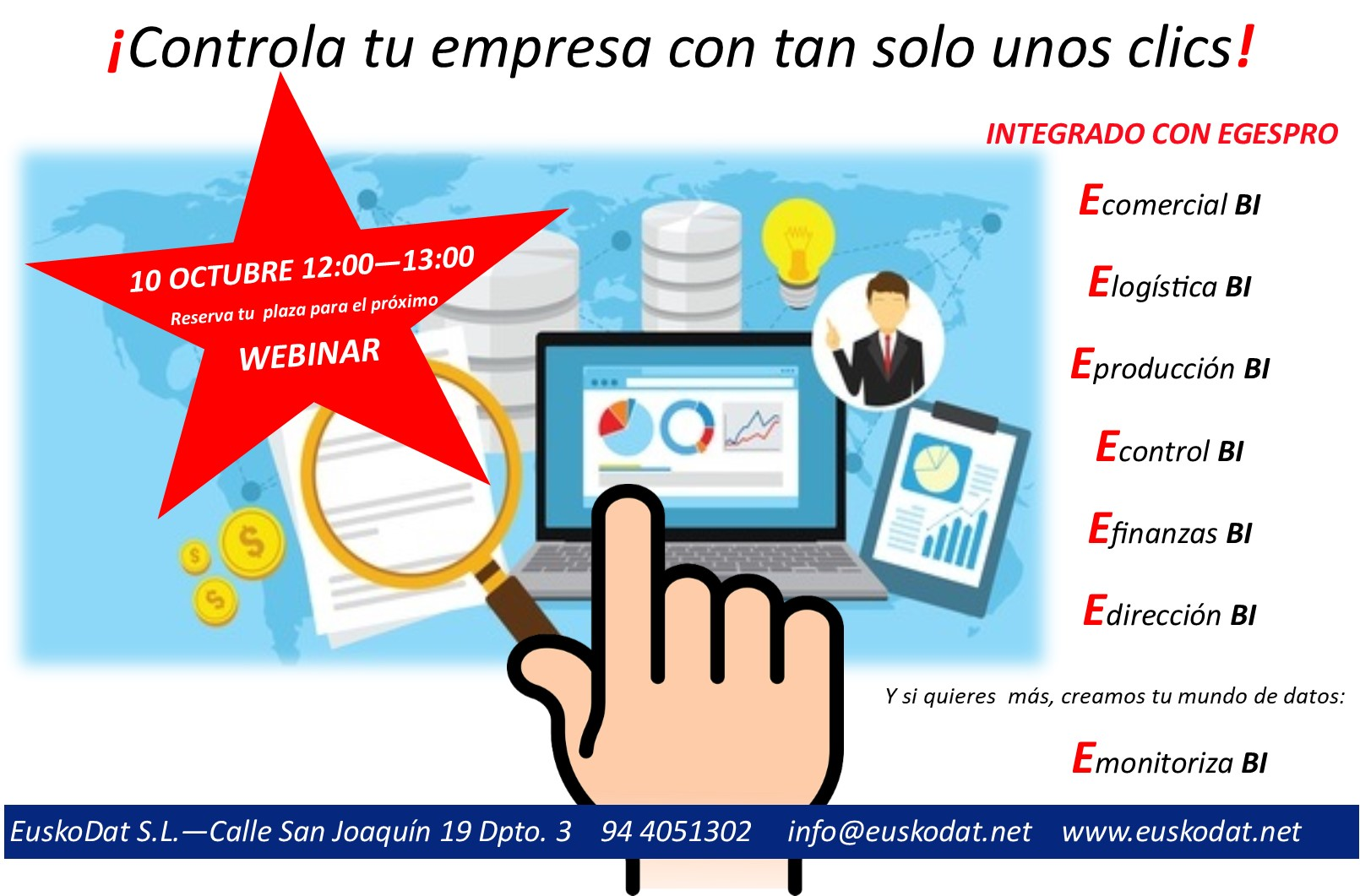 Inteligencia Empresarial Business Intelligence - ERP Egespro. EuskoDat