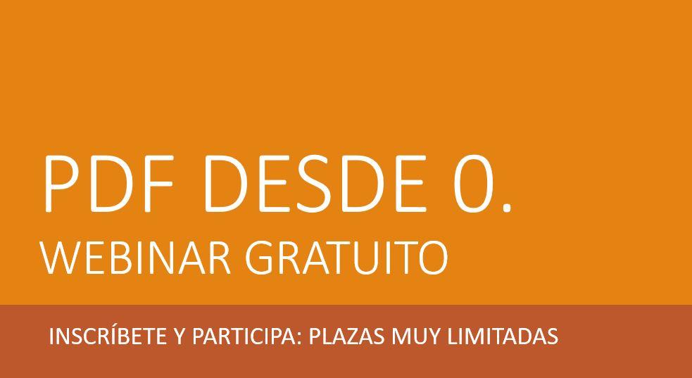 Webinar gratuito de edición de PDF