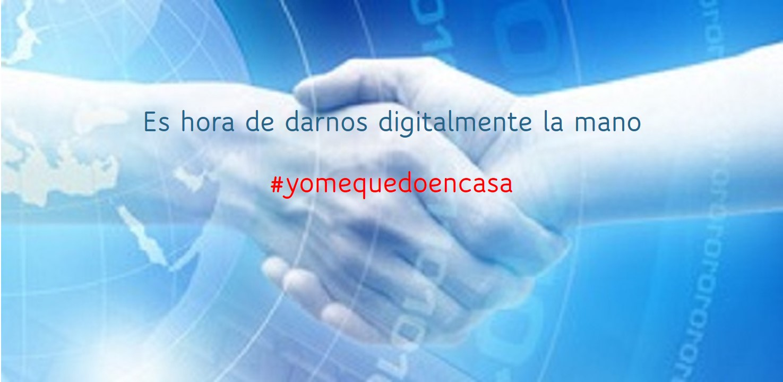 Darnos digitalmente la mano. #yomequedoencasa. EuskoDat ERP para Pymes